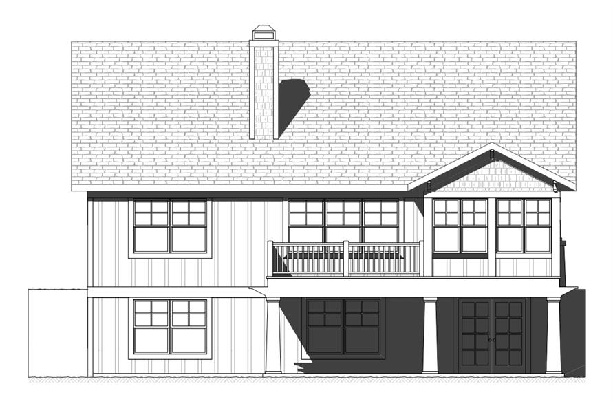 168-1119: Home Plan Rear Elevation