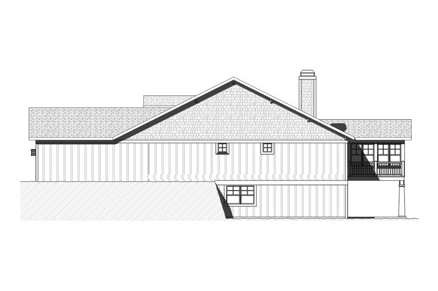 168-1119: Home Plan Right Elevation