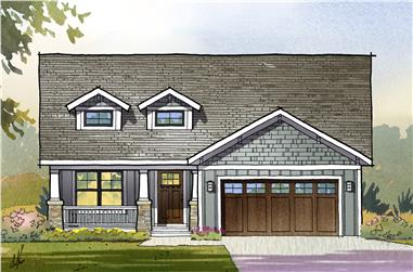 3-Bedroom, 3001 Sq Ft Ranch House Plan - 168-1119 - Front Exterior