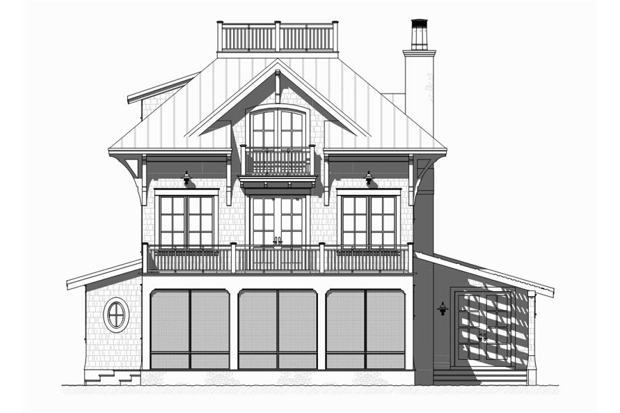 Home Plan Front Elevation of this 4-Bedroom,3470 Sq Ft Plan -168-1120