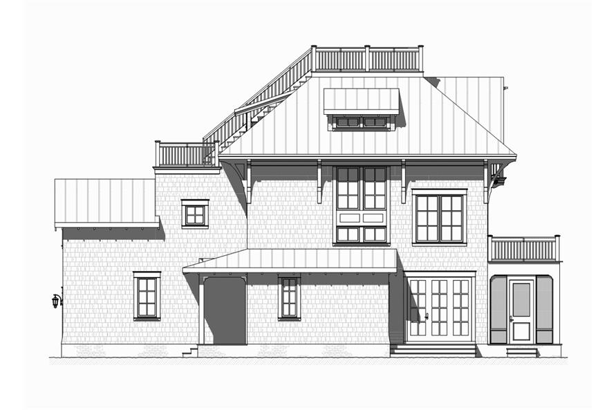 Home Plan Left Elevation of this 4-Bedroom,3470 Sq Ft Plan -168-1120