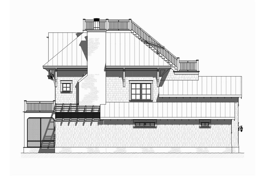 Home Plan Right Elevation of this 4-Bedroom,3470 Sq Ft Plan -168-1120