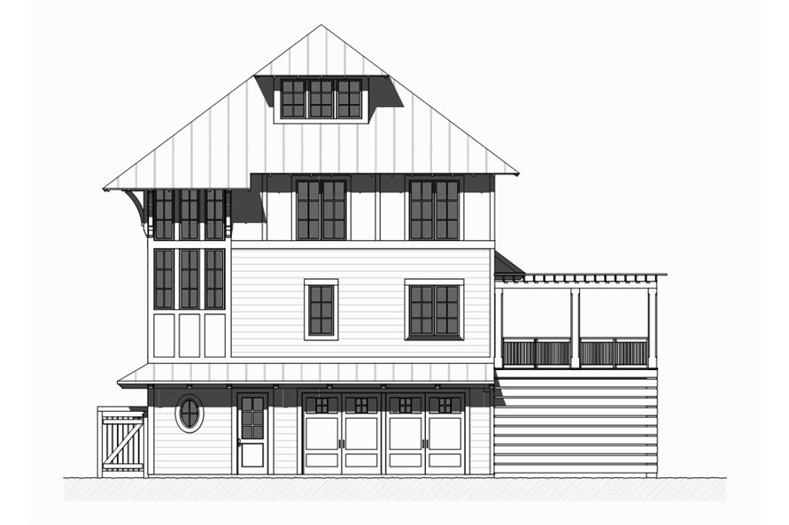 Home Plan Front Elevation of this 5-Bedroom,3331 Sq Ft Plan -168-1121