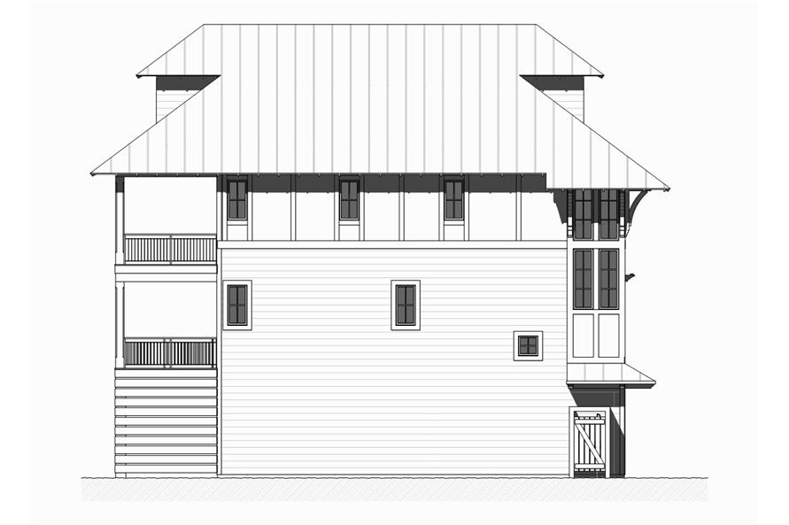 Home Plan Left Elevation of this 5-Bedroom,3331 Sq Ft Plan -168-1121