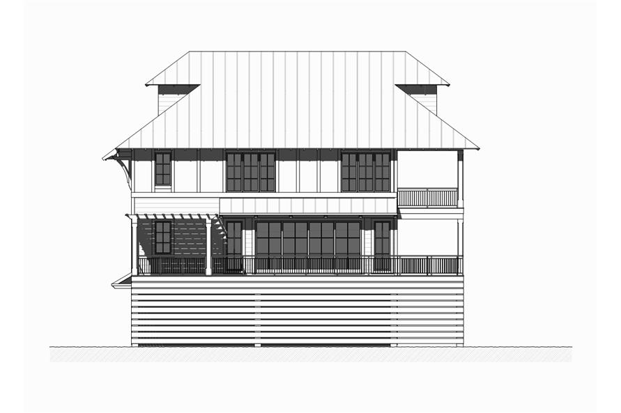 Home Plan Right Elevation of this 5-Bedroom,3331 Sq Ft Plan -168-1121