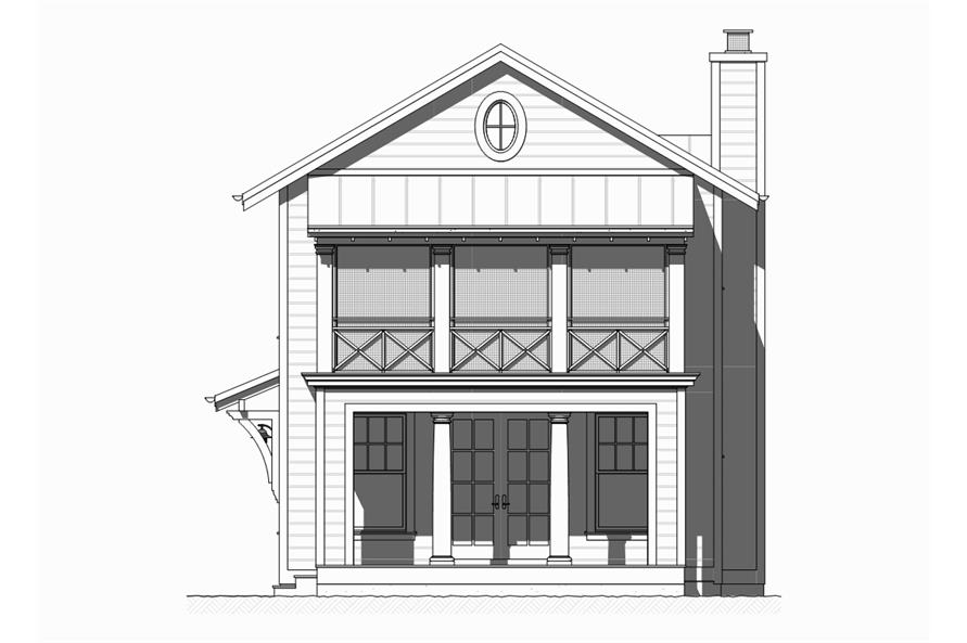 168-1122: Home Plan Front Elevation