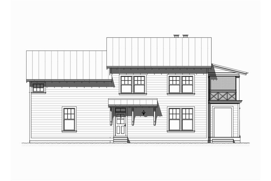 168-1122: Home Plan Left Elevation
