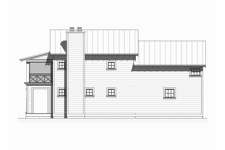 168-1122: Home Plan Right Elevation