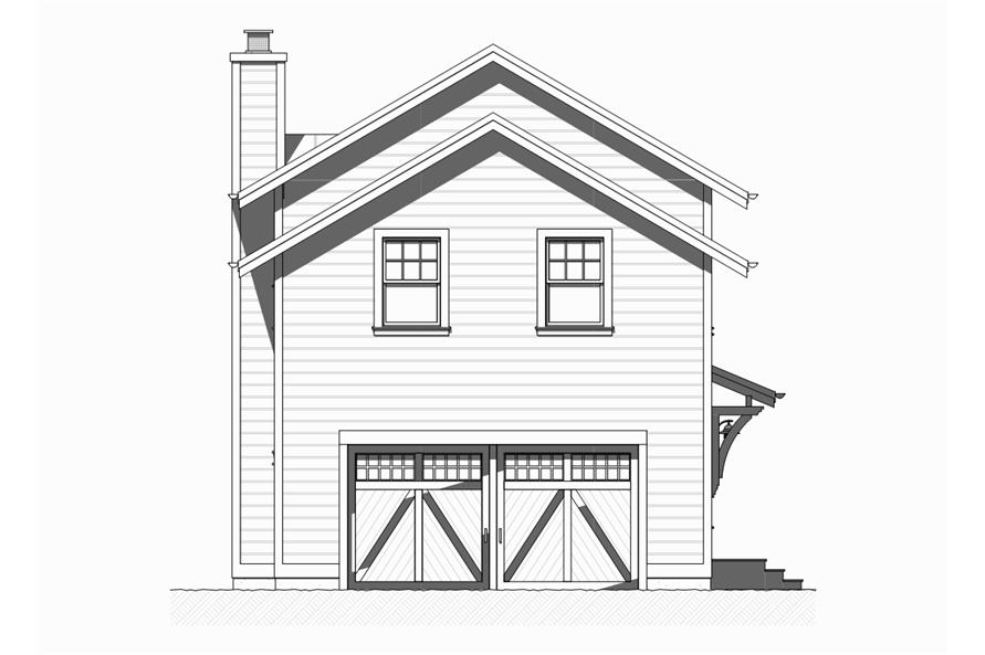 168-1122: Home Plan Rear Elevation