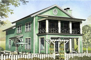 3-Bedroom, 1929 Sq Ft Beachfront House Plan - 168-1122 - Front Exterior