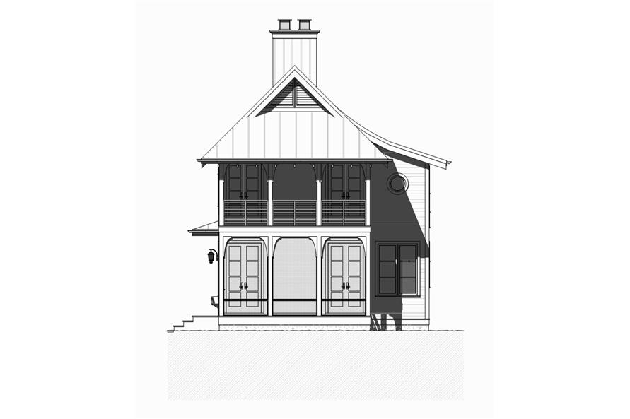 168-1123: Home Plan Front Elevation