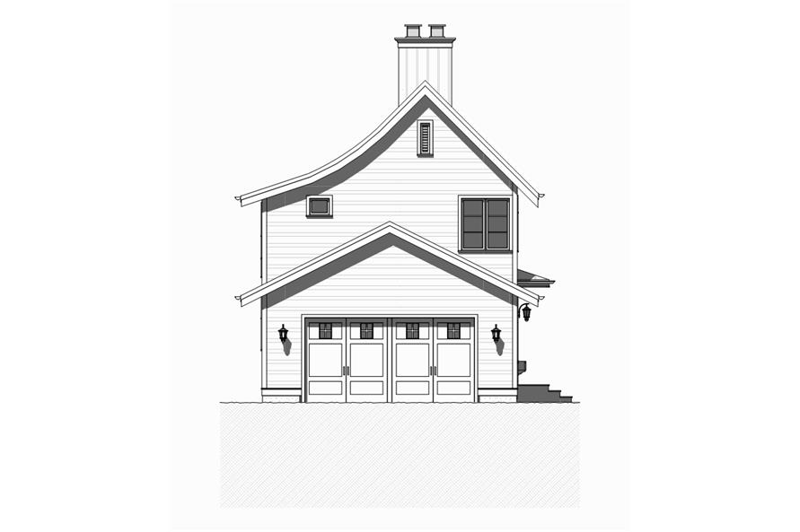 168-1123: Home Plan Rear Elevation