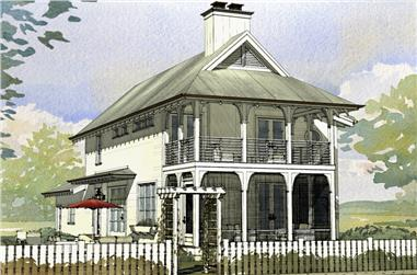 3-Bedroom, 1723 Sq Ft Cottage House Plan - 168-1123 - Front Exterior