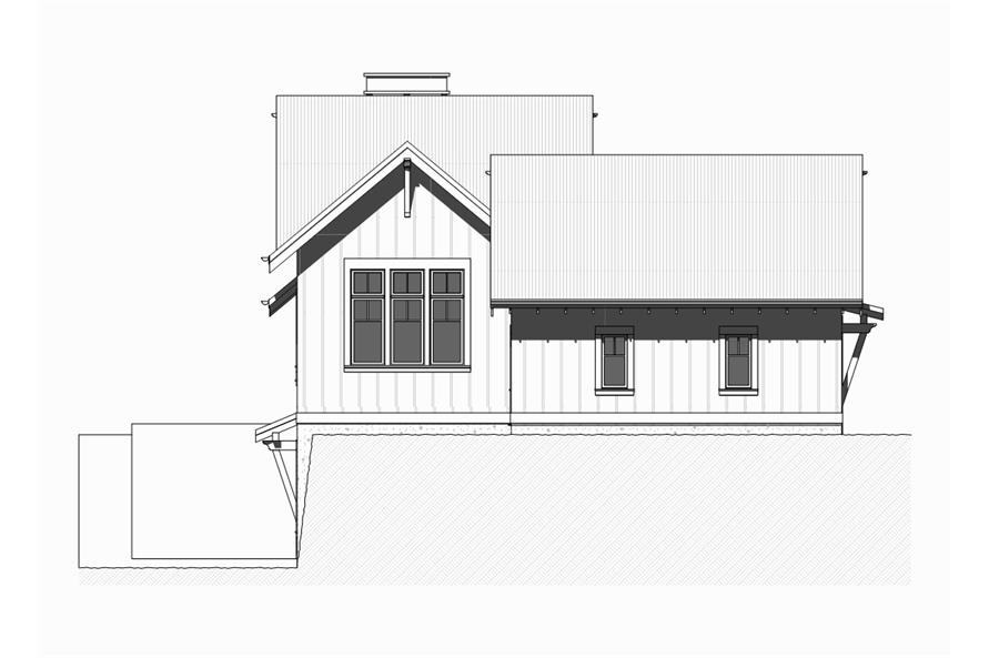 168-1124: Home Plan Left Elevation