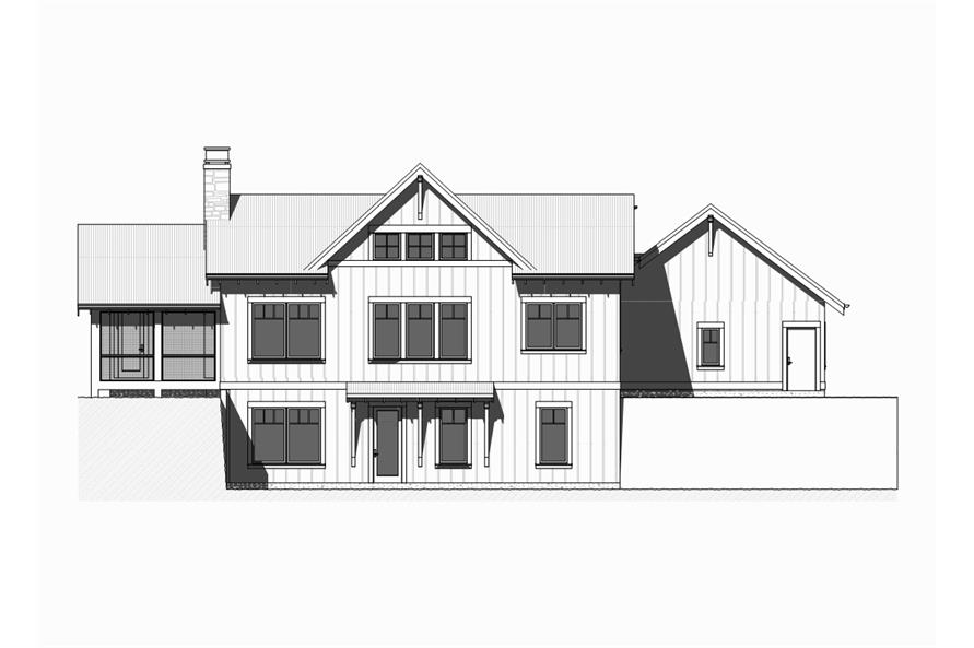 168-1124: Home Plan Rear Elevation