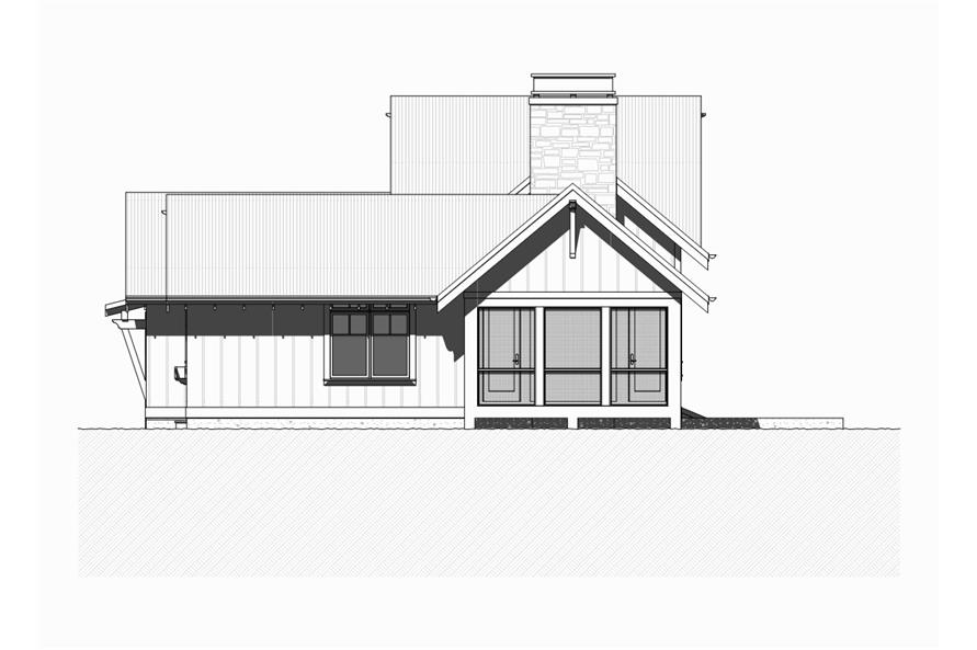 168-1124: Home Plan Right Elevation