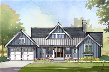 3-Bedroom, 2379 Sq Ft Cottage Home Plan - 168-1124 - Main Exterior