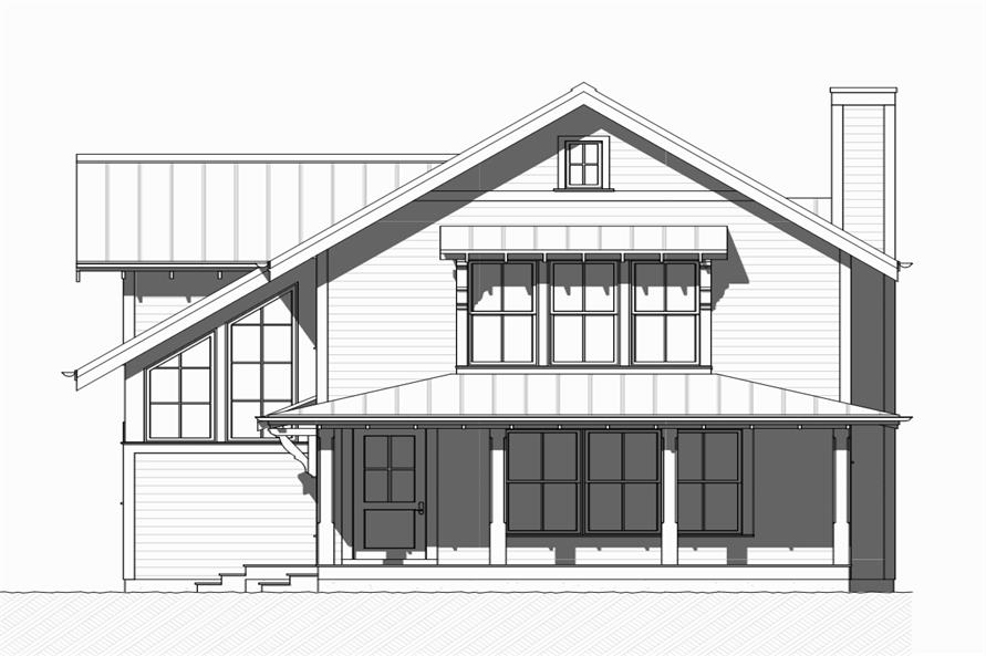 168-1125: Home Plan Front Elevation