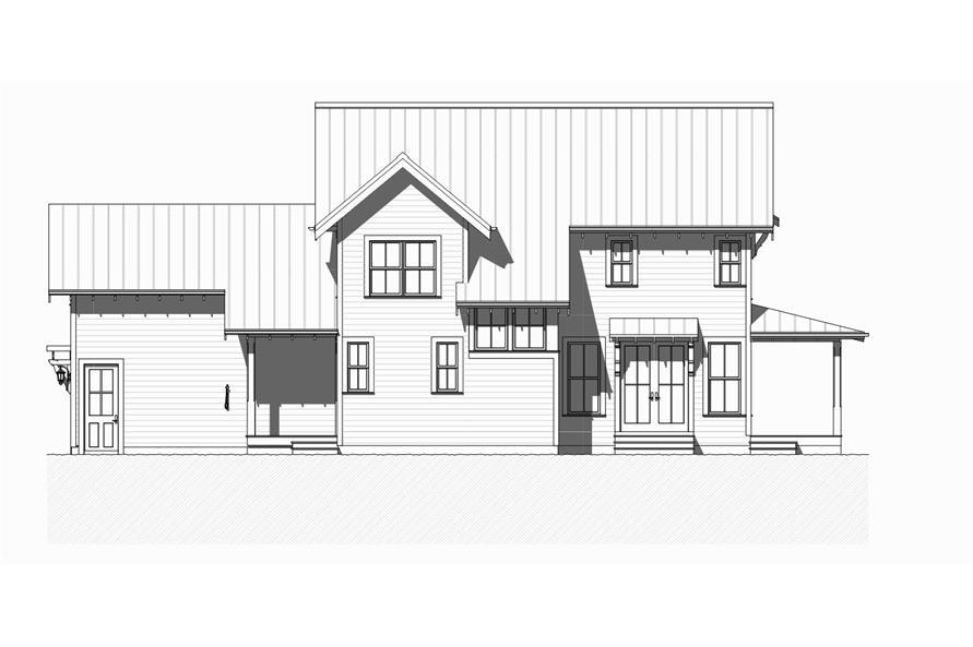 168-1125: Home Plan Left Elevation