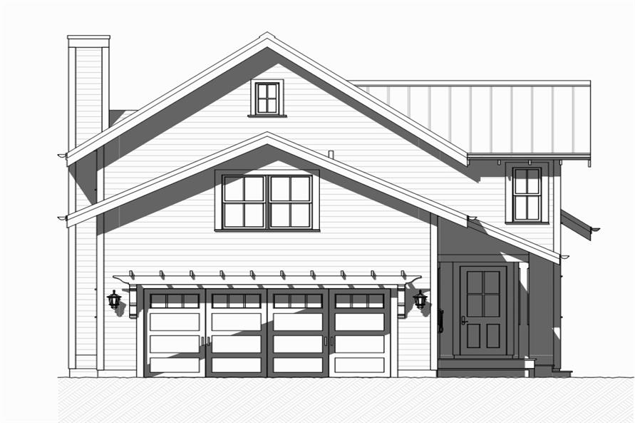 168-1125: Home Plan Rear Elevation