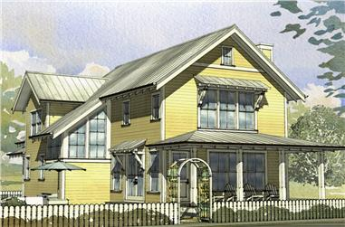 3-Bedroom, 2153 Sq Ft Cottage Home Plan - 168-1125 - Main Exterior