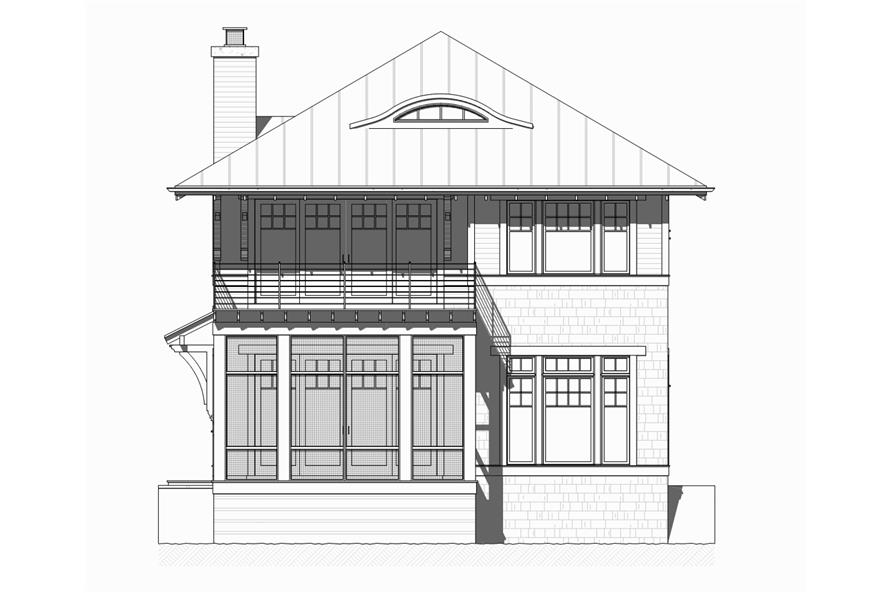 Home Plan Front Elevation of this 4-Bedroom,2454 Sq Ft Plan -168-1126