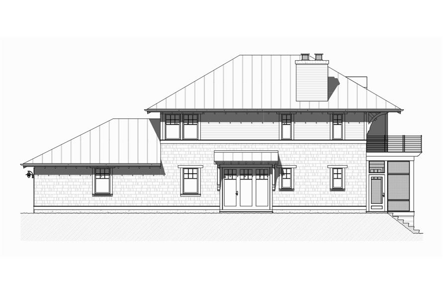 Home Plan Left Elevation of this 4-Bedroom,2454 Sq Ft Plan -168-1126