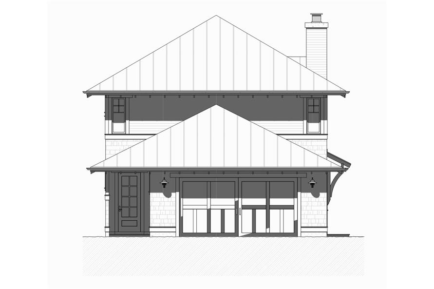 168-1126: Home Plan Rear Elevation