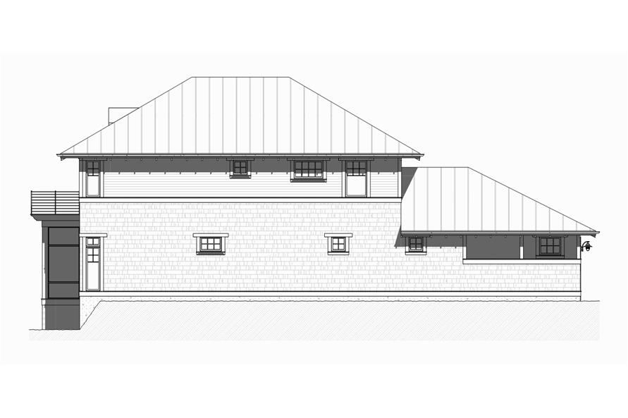 Home Plan Right Elevation of this 4-Bedroom,2454 Sq Ft Plan -168-1126