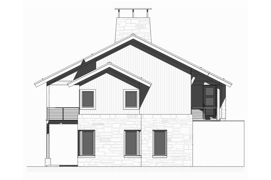 Home Plan Left Elevation of this 3-Bedroom,3206 Sq Ft Plan -168-1127