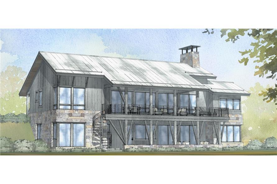 Home Plan Rendering of this 3-Bedroom,3206 Sq Ft Plan -3206