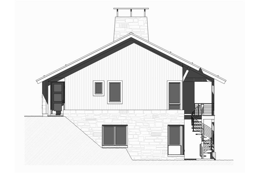 168-1127: Home Plan Right Elevation