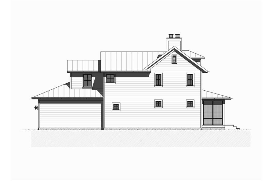 168-1128: Home Plan Left Elevation