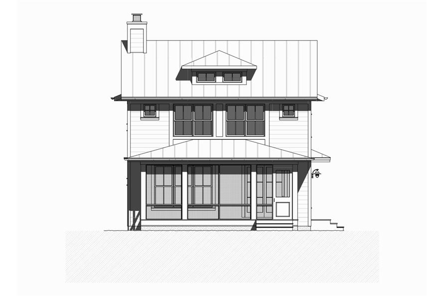 168-1128: Home Plan Front Elevation
