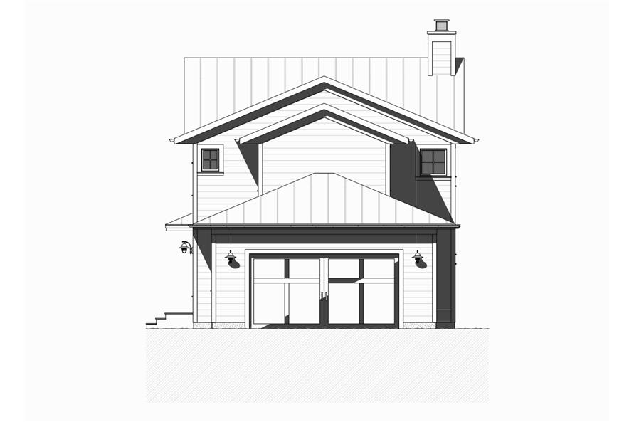 168-1128: Home Plan Rear Elevation