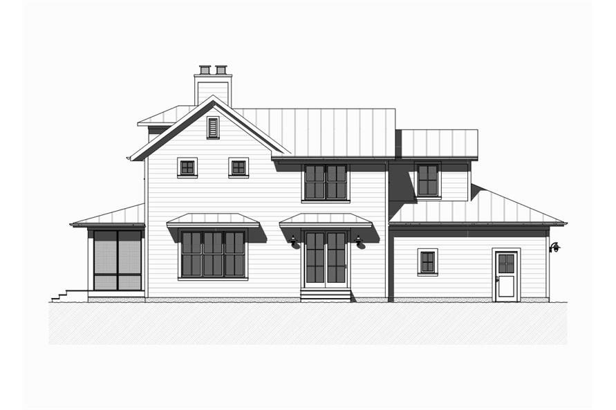 168-1128: Home Plan Right Elevation
