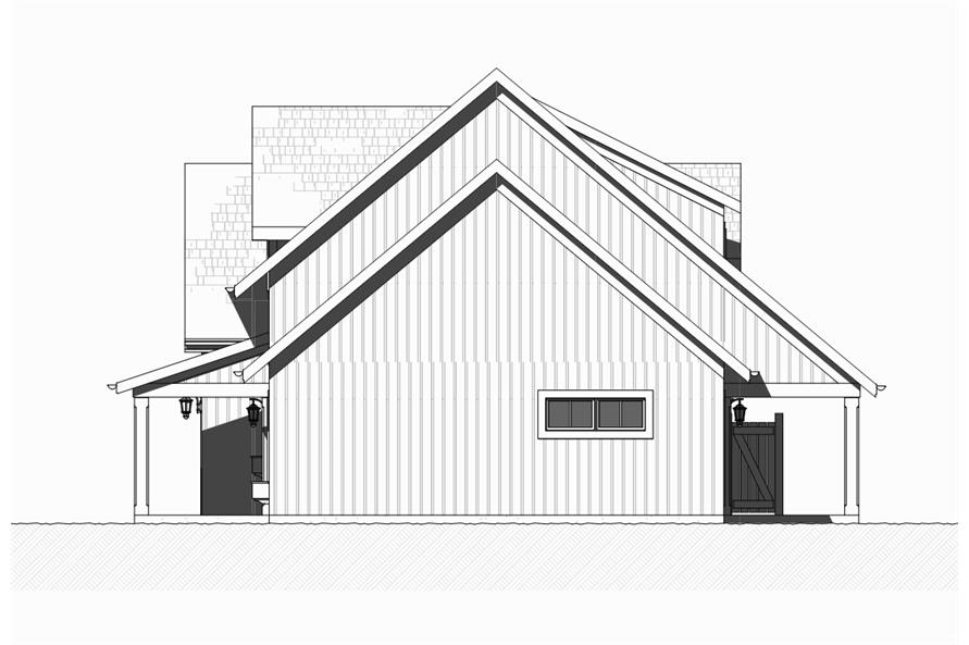 168-1129: Home Plan Right Elevation