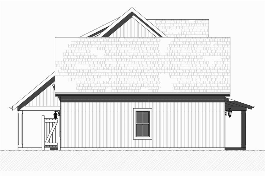 Home Plan Left Elevation of this 3-Bedroom,1930 Sq Ft Plan -168-1129