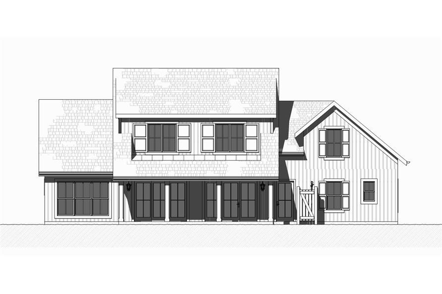 168-1129: Home Plan Rear Elevation