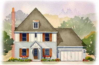 3-Bedroom, 1810 Sq Ft European Home Plan - 168-1130 - Main Exterior