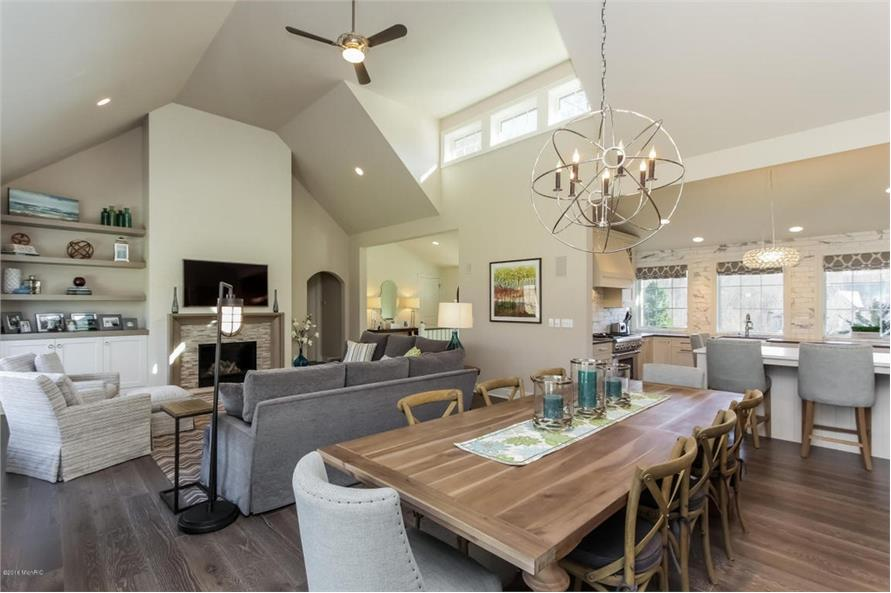 Dining Room of this 4-Bedroom,3552 Sq Ft Plan -3552