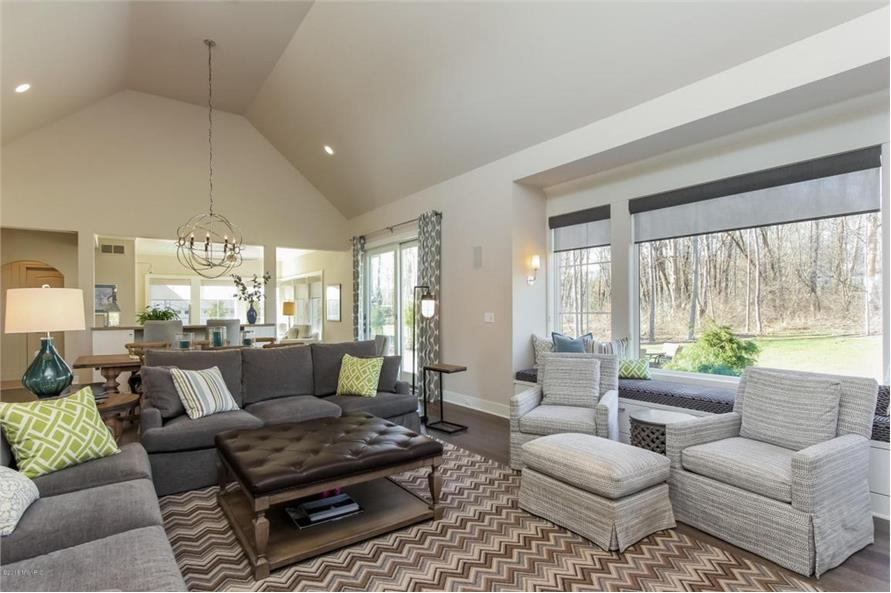 Living Room of this 4-Bedroom,3552 Sq Ft Plan -3552