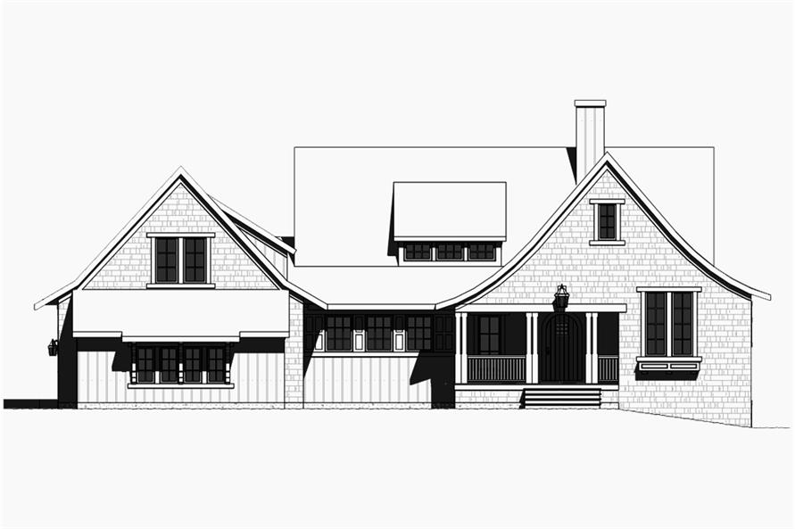Home Plan Front Elevation of this 4-Bedroom,3552 Sq Ft Plan -168-1131