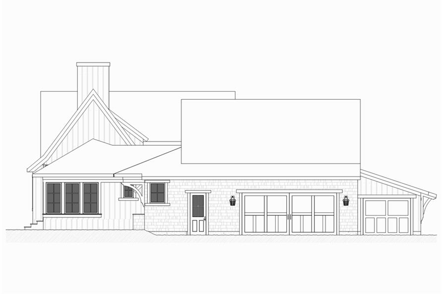 Home Plan Left Elevation of this 4-Bedroom,3552 Sq Ft Plan -168-1131