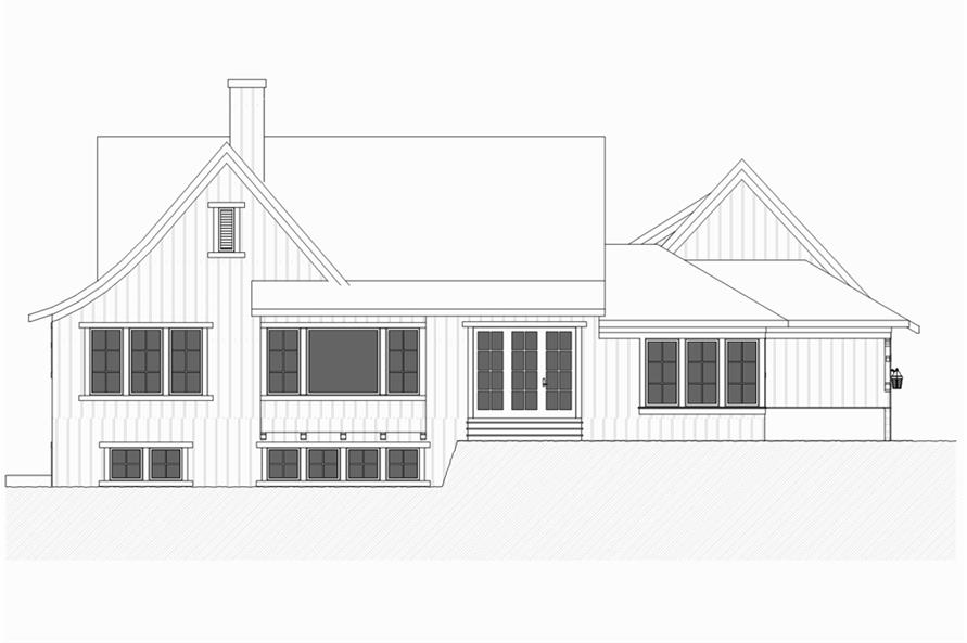 Home Plan Rear Elevation of this 4-Bedroom,3552 Sq Ft Plan -168-1131