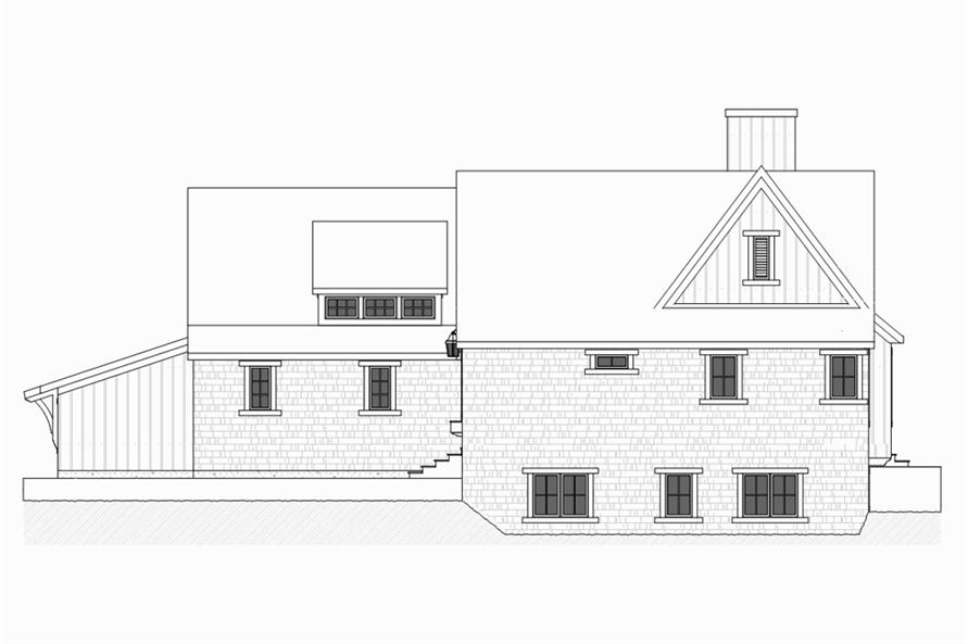 Home Plan Right Elevation of this 4-Bedroom,3552 Sq Ft Plan -168-1131