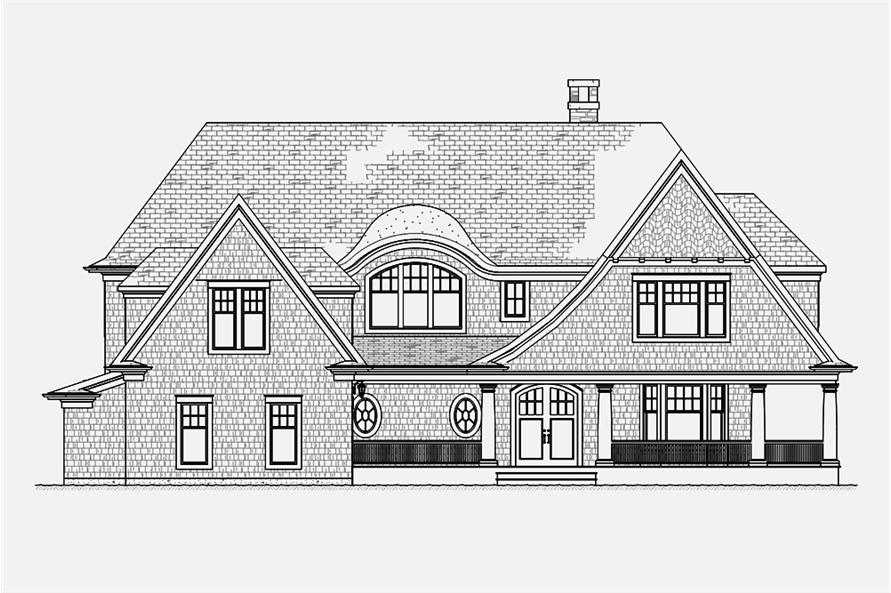 Home Plan Front Elevation of this 5-Bedroom,4580 Sq Ft Plan -168-1132