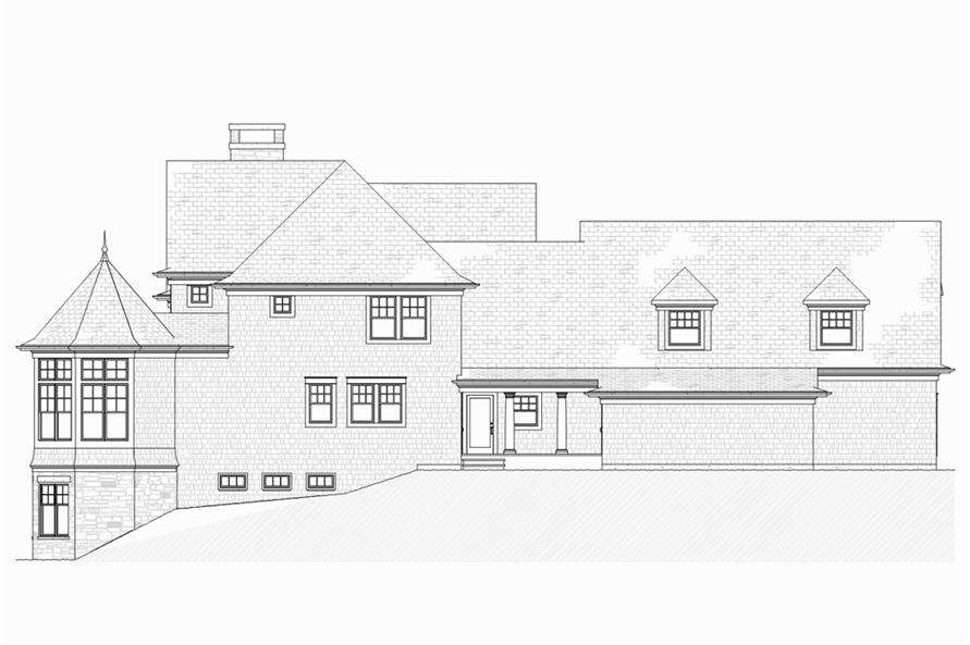 Home Plan Left Elevation of this 5-Bedroom,4580 Sq Ft Plan -168-1132