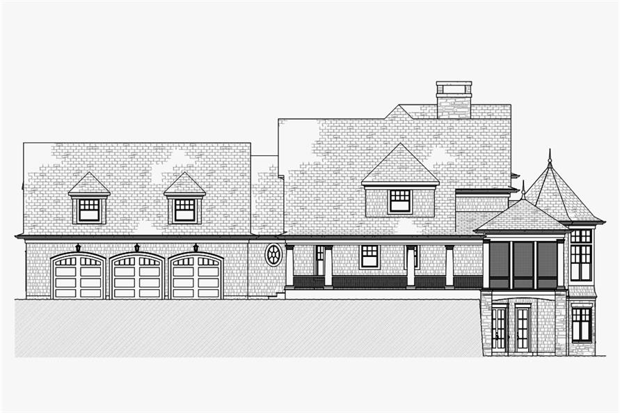 Home Plan Right Elevation of this 5-Bedroom,4580 Sq Ft Plan -168-1132