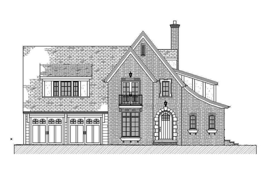 Home Plan Front Elevation of this 3-Bedroom,3331 Sq Ft Plan -168-1137